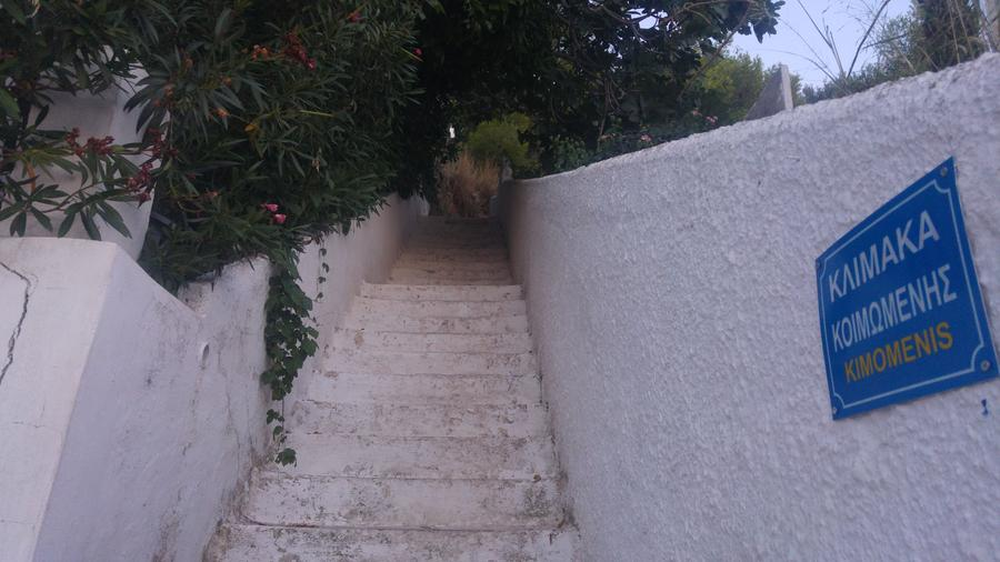 Left side stairs