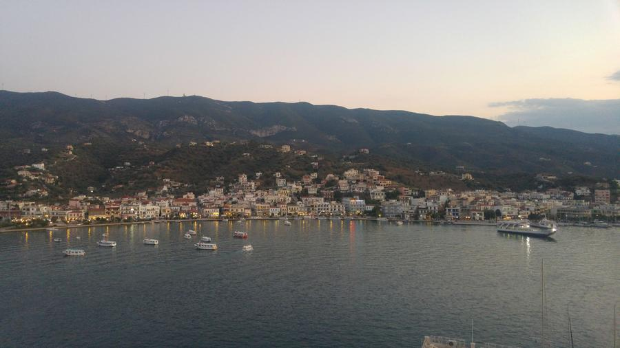 Poros view from above